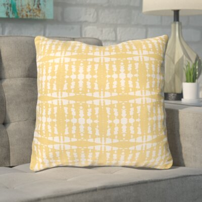 Clevedon Geometric Cotton Throw Pillow Color: Yellow