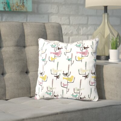Shanahan Birds Throw Pillow Size: 14 H x 14 W x 2 D