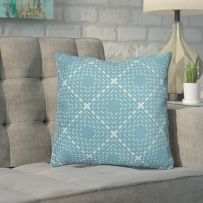 Shirley Outdoor Throw Pillow Size: 16 H x 16 W x 3 D, Color: Aqua