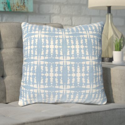 Clevedon Geometric Cotton Throw Pillow Color: Blue