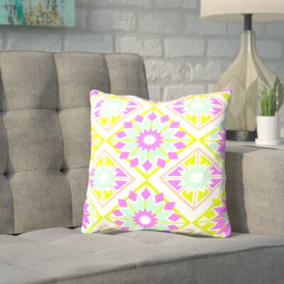 Sherron Tropical Throw Pillow Size: 16 H x 16 W x 2 D