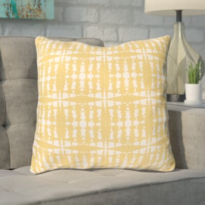 Sigma Cotton Throw Pillow Color: Yellow