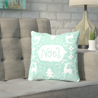 Noel Throw Pillow Size: 14 H x 14 W x 2 D