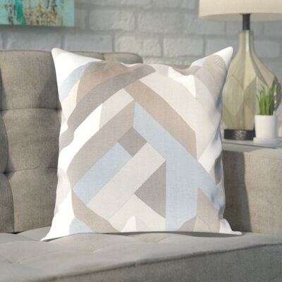 Sersic 100% Cotton Throw Pillow Cover Color: BlueNeutral, Size: 20 H x 20 W x 1 D