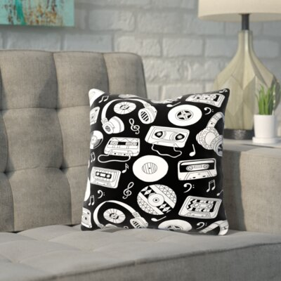 Shortwood Music Throw Pillow Size: 16 H x 16 W x 2 D