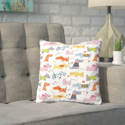 Shand Dogs Throw Pillow Size: 16 H x 16 W x 2 D