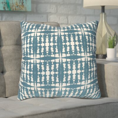 Clevedon Cotton Throw Pillow Color: Green