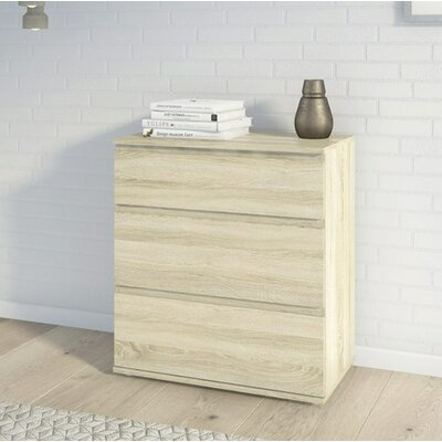 Karev 3 Drawer Chest Color: Oak Structure