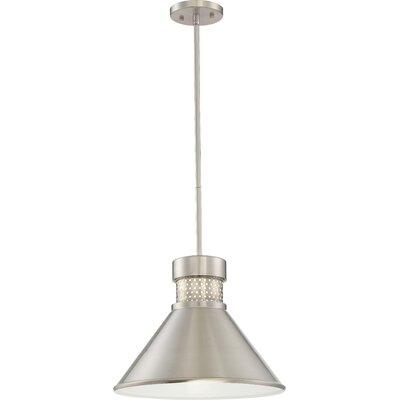 Irwin 1-Light LED Inverted Pendant Finish: Brushed Nickel/White