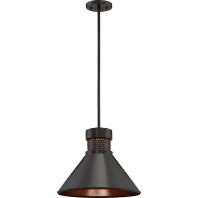 Irwin 1-Light LED Inverted Pendant Finish: Dark Bronze/Copper