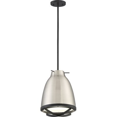 Marco 1-Light LED Mini Pendant Shade Color: Brushed Nickel/White
