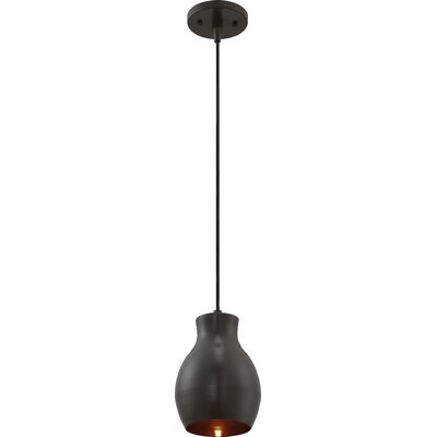 Bracondale 1-Light LED Mini Pendant Finish: Bronze/Copper