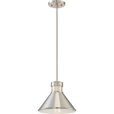 Irwin 1-Light LED Mini Pendant Finish: Brushed Nickel/White