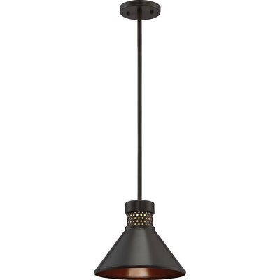Irwin 1-Light LED Mini Pendant Finish: Dark Bronze/Copper