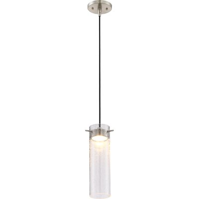 Galien 1-Light LED Mini Pendant Shade Color: Clear Seeded
