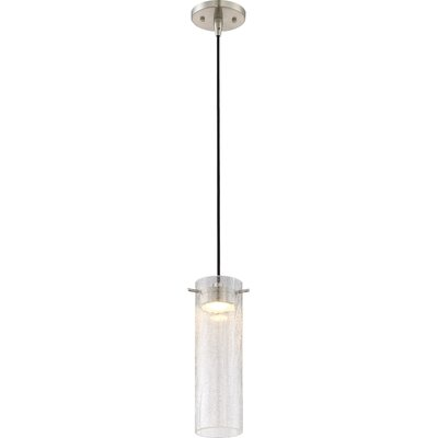 Galien 1-Light LED Mini Pendant Shade Color: Clear Crackle