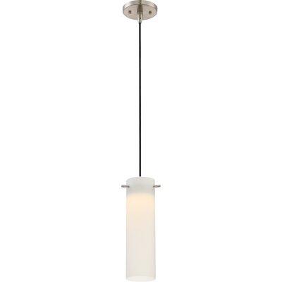 Galien 1-Light LED Mini Pendant Shade Color: White Opal