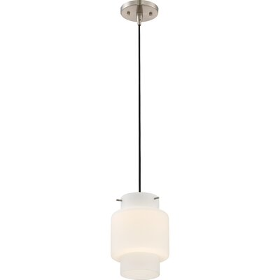 Aaden 1-Light LED Mini Pendant Shade Color: White Opal