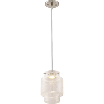 Aaden 1-Light LED Mini Pendant Shade Color: Clear Crackle