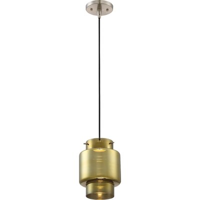 Aaden 1-Light LED Mini Pendant Shade Color: Antique