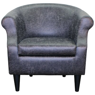 Dondre Barrel Chair Upholstery: Smoke