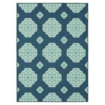 Shumake New Medallion Blue Area Rug Rug Size: Rectangle 76 x 10