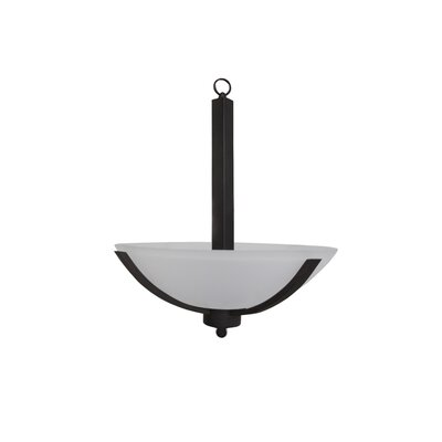 Babin 3-Light Bowl Pendant Finish: Satin Steel, Size: 24 H x 20 W x 18 D