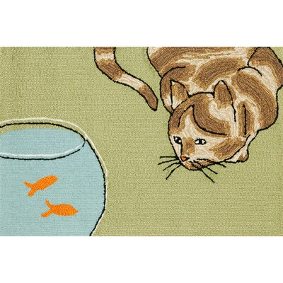 Seavey Curious Cat Area Rug Rug Size: 2 x 3