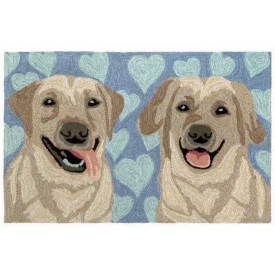 Seavey Puppy Love Blue Indoor/Outdoor Area Rug Rug Size: 2 x 3
