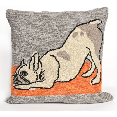 Seavey Yoga Dog Heather Throw Pillow
