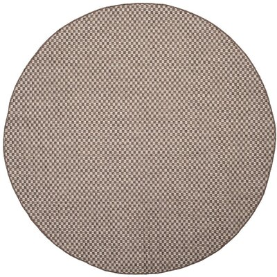 Jefferson Place Light Brown/Light Gray Outdoor Area Rug Rug Size: Round 67
