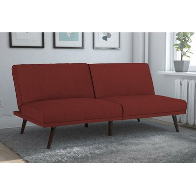 Buttrey Convertible Sofa Upholstery: Burgundy