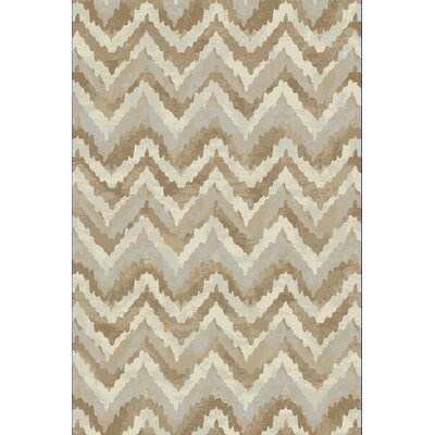 Perrinton Ivory/Beige Area Rug Rug Size: Rectangle 53 x 77