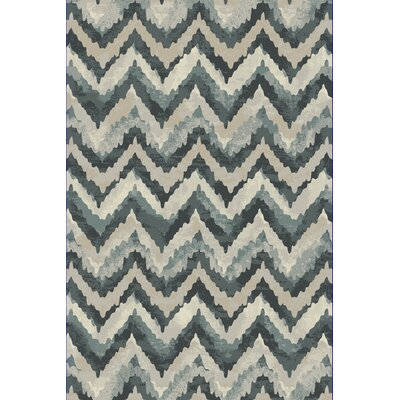 Perrinton Blue Area Rug Rug Size: Rectangle 53 x 77