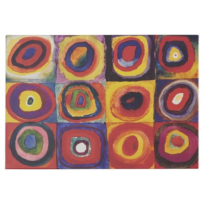 'Squares with Concentric Circles' by Wassily Kandinsky Graphic Art Print Format: Canvas, Size: 12