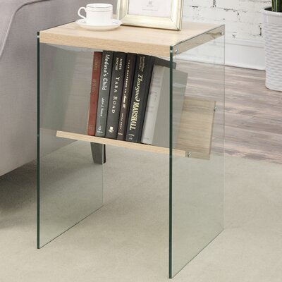 Calorafield End Table Finish: Weathered White