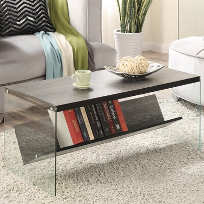Calorafield Coffee Table With Storage Color: Weathered Gray