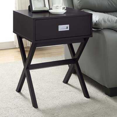 Kathleen End Table With Storage Color: Espresso