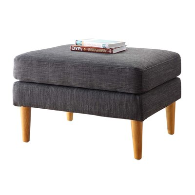 Boer Mid Century Ottoman Upholstery Color: Grey