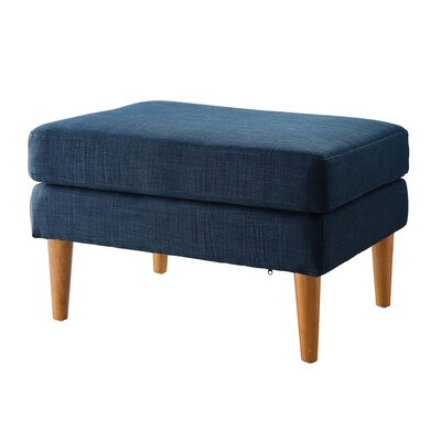 Boer Mid Century Ottoman Upholstery Color: Blue