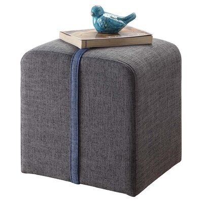 Boerger Ottoman Upholstery Color: Grey