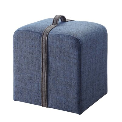 Boerger Ottoman Upholstery Color: Blue