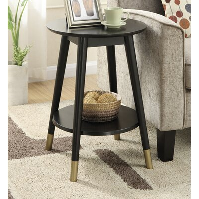 Boese End Table Finish: Black