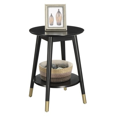 Boese End Table Color: Black