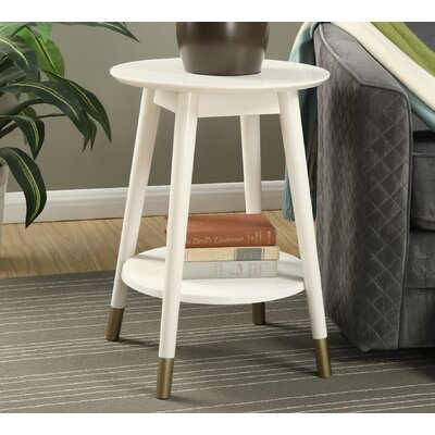 Boese End Table Finish: White