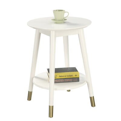 Boese End Table Color: White