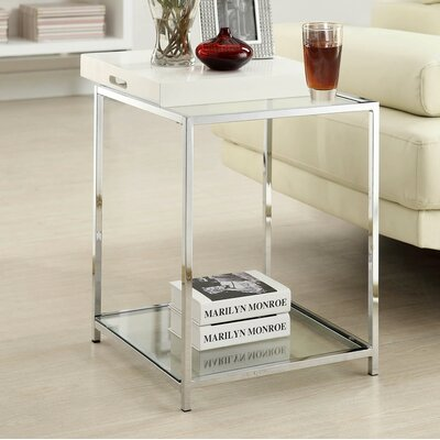 Boger End Table Finish: White