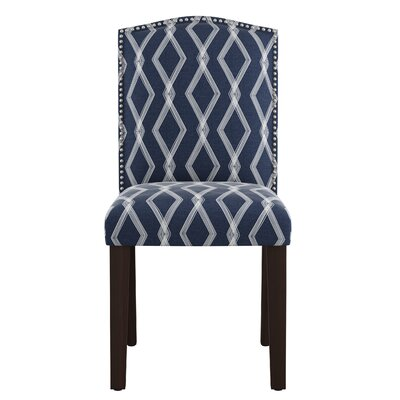 Newberry Nail Button Arched Crossweave Side Chair