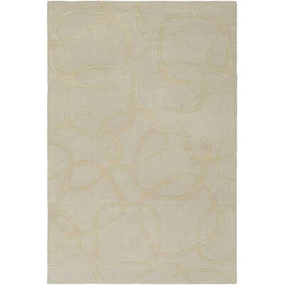 Himes Hand-Tufted Khaki/Butter Area Rug Rug Size: Rectangle 2 x 3