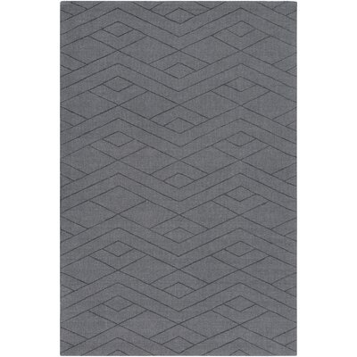 Hiett Hand-Loomed Medium Gray Area Rug Rug Size: Rectangle 5 x 76
